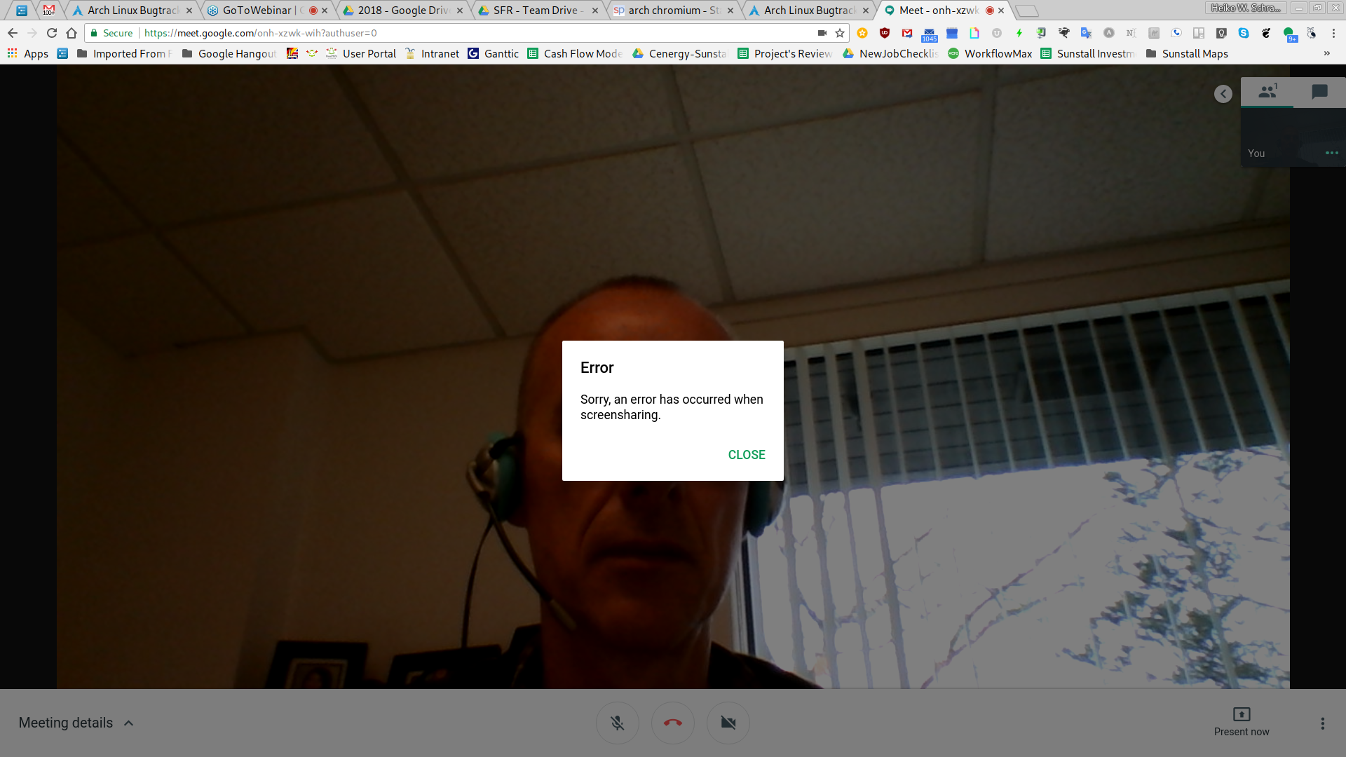 FS#58130 : [chromium] Error has occurred when screensharing