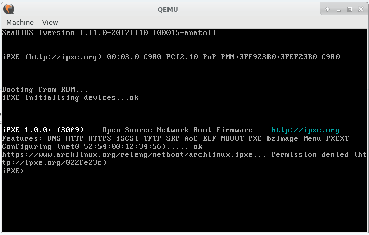 FS#60691 : Permissions error when using netboot images (ipxe)